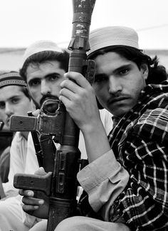 "Pakistani Taliban fighters of a group named the ""Prevention of Virtue and Preservation of Vice"" in a Pakistani tribal area called Bar Kambar Khel on July 4, 2008."