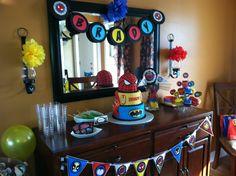 My son's superhero party