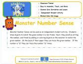 Monster Number Sense product from Making-The-Basics-Fun on TeachersNotebook.com