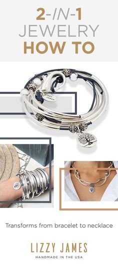 15% Off all initial orders. Featuring wrap bracelets that can be worn as necklaces- 2 styles in 1 piece! Join our Newsletter to get Styling Tips, Free Bracelet Giveaways, Seasonal discounts and more! The April wrap bracelet is the go-to gift for charm lovers. It's 2-in-1 style is color customizable and can be worn as a necklace or bracelet. Choose from over fifty leather colors at lizzyjames.com