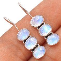 Rainbow Moonstone 925 Sterling Silver Earrings Jewelry SE119222 | eBay