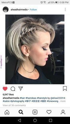Of Braids Cute short hairstyle, Cute quick coiffure. Bob Braids, Braids For Short Hair, Cute Hairstyles For Short Hair, Short Hair Cuts, Curly Hair Styles, Natural Hair Styles, Wedding Hairstyles, Short Hair Braid Styles, Short Bob Updo