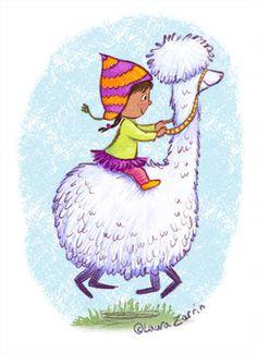 Riding a llama LauraZarrin.jpg