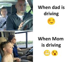 When my dad was driving i was calm and enjoying the trip but whem was mom turn to take the wheel i felt unsafe and scared and this pic remem...
