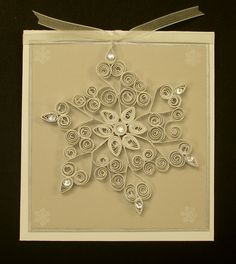 LSC197 Quilled Snowflake by MariLynn - Cards and Paper Crafts at Splitcoaststampers