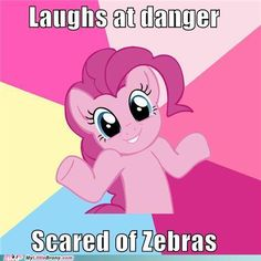 A huge fire breathing dragon: HAHAHA!  Sees Zecora: AHHHH! RUN FOR YOUR LIFE!!!
