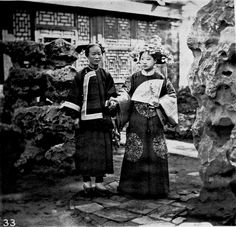 Manchu Tartar bride and maid by John Thompson, before 1898