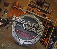 Refinerii Studios: Gears of War Custom Trophy made from Metals