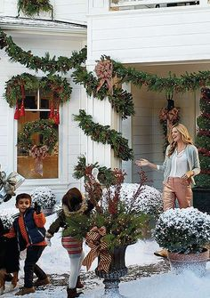 Elegantly bring holiday cheer to your home with the Estate Pre-lit Greenery Collection; a collection so gorgeous, it looks fresh-cut. Christmas Open House, Southern Christmas, Cozy Christmas, Christmas Morning, Little Christmas, Christmas Holidays, Christmas Wreaths, Christmas Decorations, Christmas Scenes
