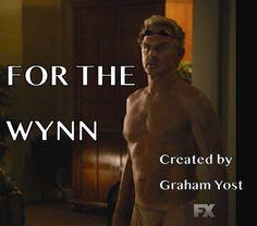 "My eyes! My eyes!! ""Justified Spin off Idea: For the Wynn (Wynn Duffy runs a tanning salon/bar combo in Corbin)"""