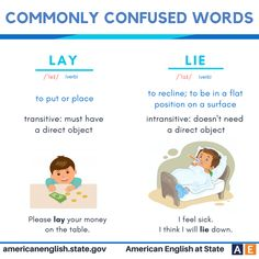 Commonly confused words: Lay vs Lie