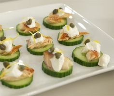 Cucumber Rounds With Smoked Trout & Capers Recipe - House & Home