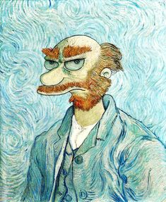 Groundskeeper Willie from the Simpsons. Vangoh style.