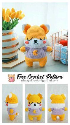 Crochet Fox, Free Crochet, Step By Step Crochet, Cute Fox, Learn To Crochet, Free Pattern, Crochet Patterns, Homemade, Diy