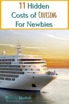 11 hidden costs of cruising for newbies above large cruise ship sailing through water at sunset Best Cruise, Cruise Tips, Cruise Travel, Cruise Vacation, Vacation Trips, Honeymoon Cruise, Vacation Ideas, Carnival Cruise Freedom, Carnival Dream Cruise