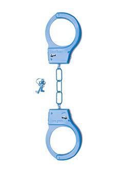 Shots Toys Metall Handschellen blau, 1 Stück