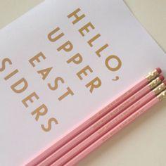What Would Blair Waldorf Do Set of 4 Pencils di DottieRocks