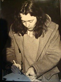 Rory signing autograph late 70's