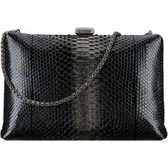 python ruthenium metal ❤ liked on Polyvore featuring bags, handbags, clutches, python purse, python handbags, hand bags, python print handbag and man bag