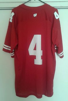 Wisconsin Badgers Red Home Adidas Football Jersey Jared Abbrederis #4 XL NEW #adidas #WisconsinBadgers------SOLD!