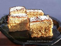 Romanian Desserts, Romanian Food, Coffee Time, Biscuit, Banana Bread, Foodies, French Toast, Good Food, Cooking Recipes