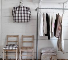simple storage hanging rail from pipes - The Paper Mulberry: Laundry