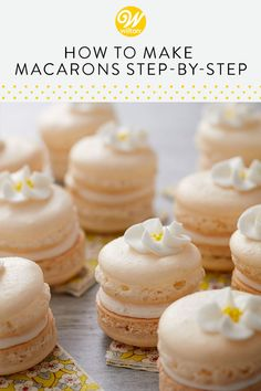 How to Make Macarons - Step-by-Step French Macaron Recipe - Seemingly both crispy and soft at the same time, these cookies have a nougat-like texture and can b - Fun Baking Recipes, Sweet Recipes, Cookie Recipes, Dessert Recipes, Easy Desserts, Delicious Desserts, Yummy Food, French Macarons Recipe, Classic French Macaron Recipe