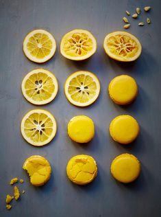 Food Styling * Prop Style * Lemons * Yellow Macaroons  * Stylist: Josephine Castellano JosCast.com Photographer: Robert Petrie Dasroc