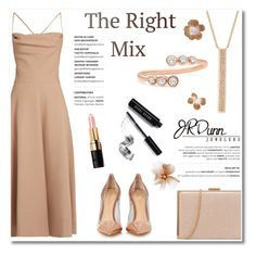 """""""The right mix/JRDUNN"""" by helenevlacho ❤ liked on Polyvore featuring EF Collection, Valentino, Gianvito Rossi, Dunn, Bobbi Brown Cosmetics, contestentry, layering, Mixing and JRDunn"""