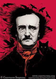 Edgar Allan Poe  © Cristiano SIQUEIRA (Artist. Sao Paulo, Brazil) aka chrisvector via deviantart. Digital Art. His site:  www.crisvector.com  His shop: http://www.behance.net/CrisVector  ...  [Do not remove caption. The law requires that you 1. Credit the artist, 2. List/Link directly to artist's website.] COPYRIGHT LAW: http://pinterest.com/pin/86975836525792650/  REAL LIFE:   http://pinterest.com/pin/86975836525987875/ Don't pin the art  erase the artist.