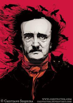 Edgar Allan Poe  © Cristiano SIQUEIRA (Artist. Sao Paulo, Brazil) aka chrisvector via deviantart. Digital Art. His site:  www.crisvector.com  His shop: http://www.behance.net/CrisVector