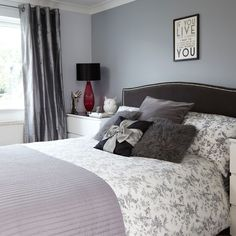 Grey and black bedroom | Bedroom decorating | Style at Home | Housetohome.co.uk