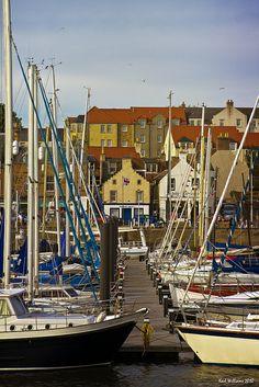 Anstruther Harbour, Fife, Scotland.  Photo: Shuggie!! via Flickr