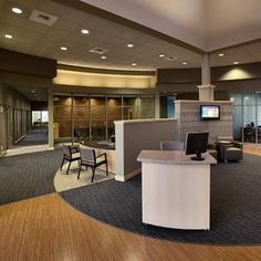 Interesting use materials within this lobby at Intermountain Community Bank in Spokane Valley.