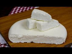 Faceți brânză de casă rapid și ușor - YouTube Cooking Cheese, Sweet Tarts, How To Make Cheese, Vanilla Cake, Feta, Recipies, Cheesecake, Dairy, Food And Drink