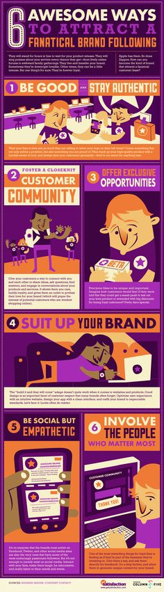 6 Great Ways To Attract A Fanatical Brand Following #Infographic #DigitalMarketing