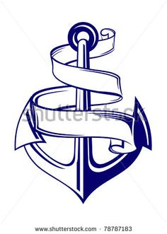 Anchor symbol with ribbon