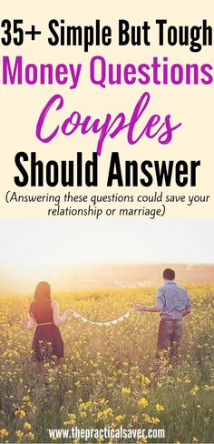 Money Questions Couples Need to Answer . simple questions l relationship goals l relationship problems l money problems l money solutions l debt problems l debt solutions l couple fights l budget l finance l health