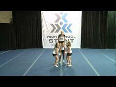 Partner Stunts 2C - YouTube Cheerleading Videos, High School Cheerleading, Cheerleading Cheers, Cheer Coaches, Cheerleading Stunting, Cool Cheer Stunts, Cheer Jumps, Cheer Routines, Cheer Workouts