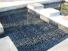Zen Paradise Black Sumatra Natural Pebble Tiles  http://www.zenparadise.net/