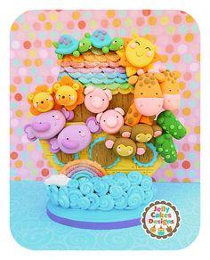 TwoByTwo Noah's Ark Keepsake Cake por jellycakesdesigns en Etsy, $78.00