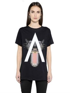 MARCELO BURLON COUNTY OF MILAN - GAONA PRINTED COTTON T-SHIRT - LUISAVIAROMA - LUXURY SHOPPING WORLDWIDE SHIPPING - FLORENCE