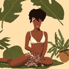 Black Art Painting, Black Artwork, Black Love Art, Black Girl Art, African Women, African Art, African American Artwork, African Prints, African Style