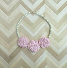 Hey, I found this really awesome Etsy listing at https://www.etsy.com/ca/listing/276696802/pearl-beaded-statement-necklace-pink
