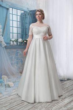 Wedding Dresses Lace - New ideas Wedding Dress Trends, Wedding Dress Shopping, Modest Wedding Dresses, Cheap Wedding Dress, Wedding Dress Styles, Wedding Party Dresses, Bridal Dresses, Plus Size Wedding Dresses With Sleeves, Vestidos Plus Size