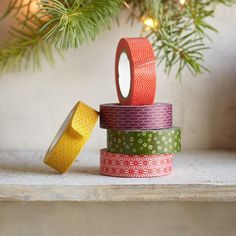 WASHI TAPE, SET OF 5 -- Made by a 100-year old company in Japan, this…