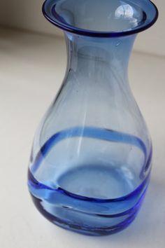 Vintage Kosta Boda Art Glass Vase, Bertil Vallien Signed