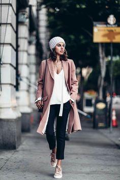 rosy pink coat