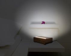 Led bed-side lamp  Italian wood production