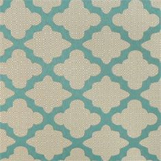 This is a blue and natural woven geometric upholstery fabric, suitable for any decor in the home office. Perfect for pillows and furniture.v132HRR